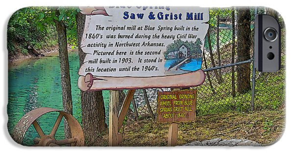 Arkansas Mixed Media iPhone Cases - Grist Mill iPhone Case by Julie  Grace