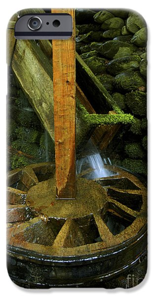 Grist Mill iPhone Cases - Grist Mill power wheel iPhone Case by Paul W Faust -  Impressions of Light