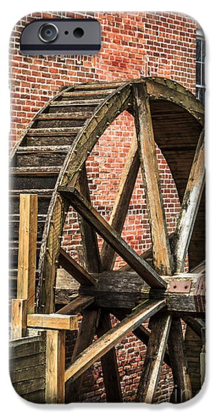 Hobart iPhone Cases - Grist Mill Water Wheel in Hobart Indiana iPhone Case by Paul Velgos