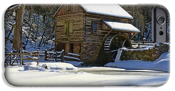 Grist Mill iPhone Cases - Grist Mill Winter iPhone Case by Paul Ward