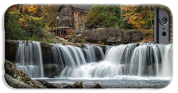 Grist Mill iPhone Cases - Grist Mill with Vibrant Fall Colors iPhone Case by Lori Coleman