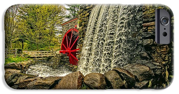 Sudbury Ma iPhone Cases - Gristmill Falls iPhone Case by Constantine Gregory