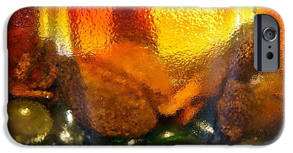 Surrealism Glass iPhone Cases - Gritty Glass.. iPhone Case by Jolanta Anna Karolska