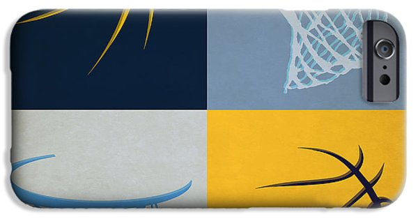 Grizzly iPhone Cases - Grizzlies Ball And Hoop iPhone Case by Joe Hamilton