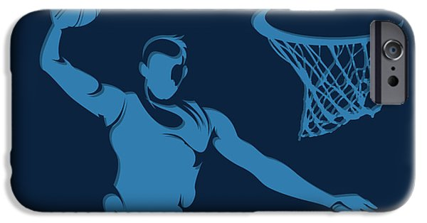 Grizzly iPhone Cases - Grizzlies Shadow Player1 iPhone Case by Joe Hamilton