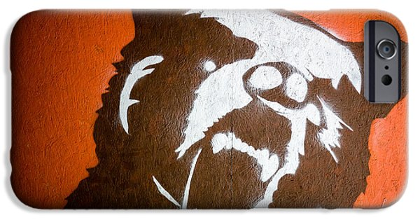 Outsider iPhone Cases - Grizzly Bear Graffiti iPhone Case by Edward Fielding
