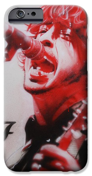 Dave Grohl iPhone Cases - Grohl II iPhone Case by Christian Chapman