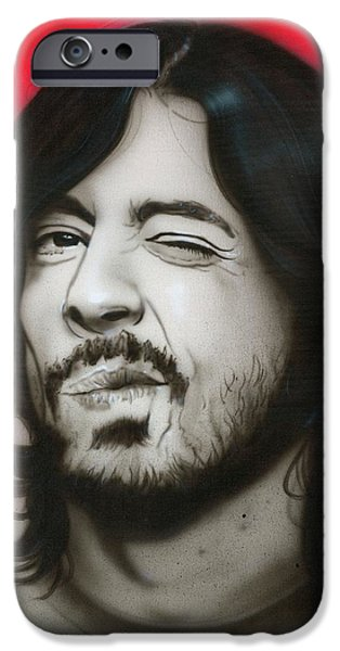 Dave Grohl iPhone Cases - Grohl III iPhone Case by Christian Chapman Art