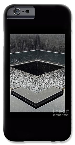 The Twin Towers Of The World Trade Center iPhone Cases - Ground Zero 9-11 Memorial iPhone Case by Joseph J Stevens