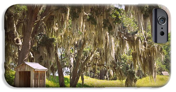 Mounds iPhone Cases - Grounds of Fort McAllister iPhone Case by Linda Covino