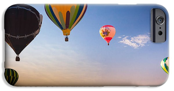 Hot Air Balloon iPhone Cases - Group of balloons iPhone Case by Inge Johnsson