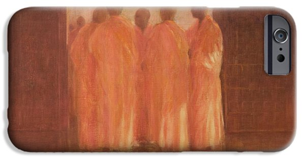 Buddhist iPhone Cases - Group Of Monks, Vietnam iPhone Case by Lincoln Seligman