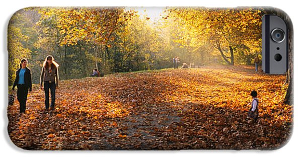 Weekend Activities iPhone Cases - Group Of People In A Park, Tuebingen iPhone Case by Panoramic Images