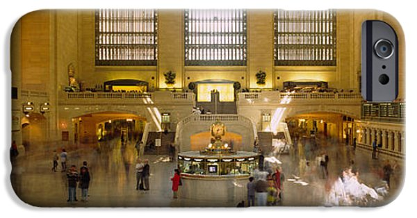 Interior Scene iPhone Cases - Group Of People In A Subway Station iPhone Case by Panoramic Images