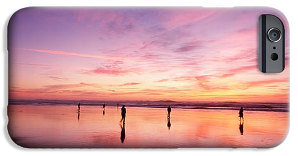 Reflections Of Sky In Water iPhone Cases - Group Of People Watching The Sunset iPhone Case by Panoramic Images