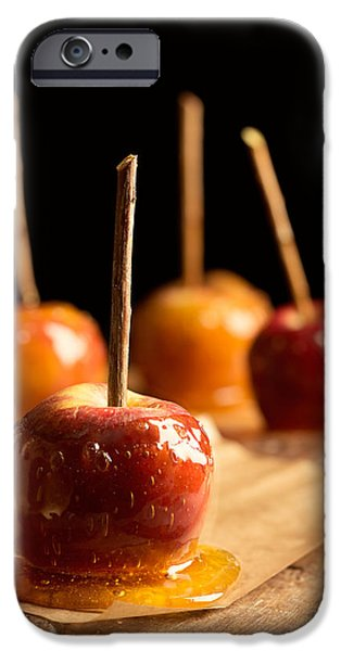 Spin iPhone Cases - Group Of Toffee Apples iPhone Case by Amanda And Christopher Elwell
