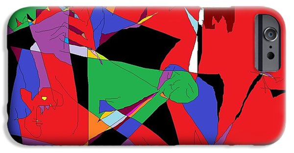 Abstract Sculptures iPhone Cases - Group Therapy iPhone Case by Willie Anicic