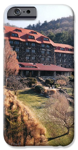 Grove Park Inn in Early Winter iPhone Case by Paulette B Wright