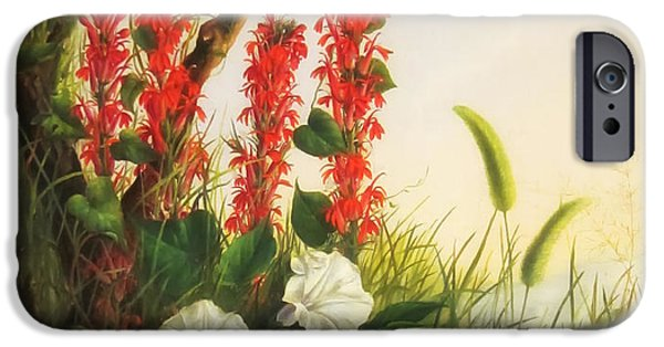 Concept Paintings iPhone Cases - Growing Flowers iPhone Case by Peirce
