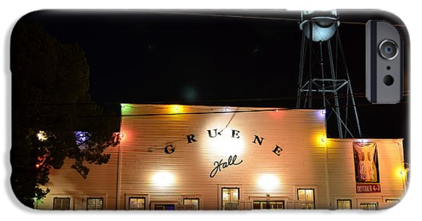 Time iPhone Cases - Gruene Hall iPhone Case by David Morefield