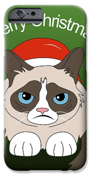 Animation iPhone Cases - Grumpy Cat iPhone Case by Mark Ashkenazi