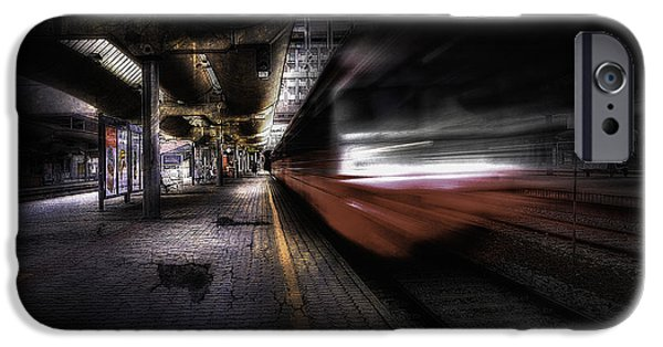 Abstract Movement iPhone Cases - Grunge Art Part III - Runaway Train iPhone Case by Erik Brede