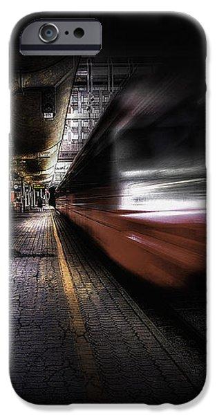 Grunge Art Part III - Runaway Train iPhone Case by Erik Brede