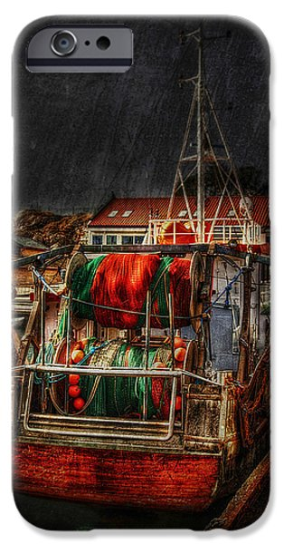 Trawler iPhone Cases - Grunge Art Part IX - Resting iPhone Case by Erik Brede