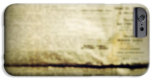 Newspaper iPhone Cases - Grunge newspaper iPhone Case by Les Cunliffe