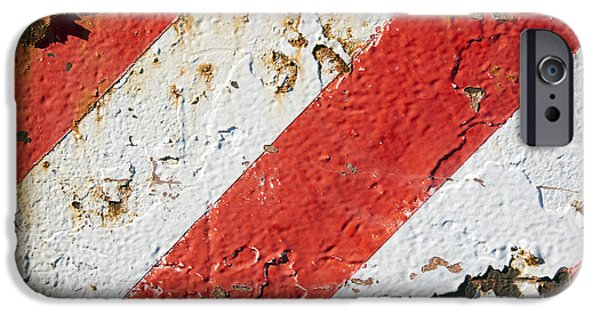 Recently Sold -  - Machinery iPhone Cases - Grunge Stripe Background iPhone Case by Tim Hester