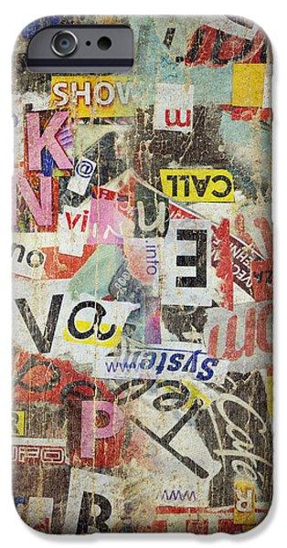 Grunge textured background iPhone Case by Jelena Jovanovic