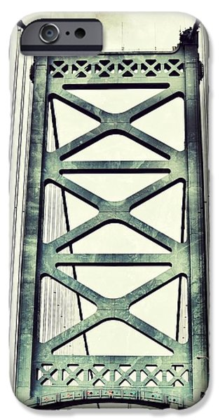 Recently Sold -  - Franklin iPhone Cases - Grungy Ben iPhone Case by Brandi Fitzgerald