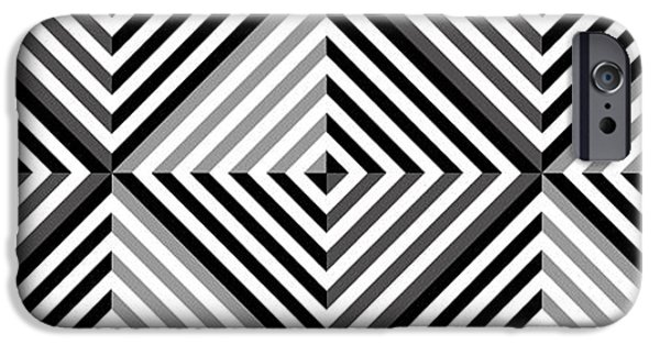 Modern Abstract iPhone Cases - GS Diamonds iPhone Case by Mike McGlothlen