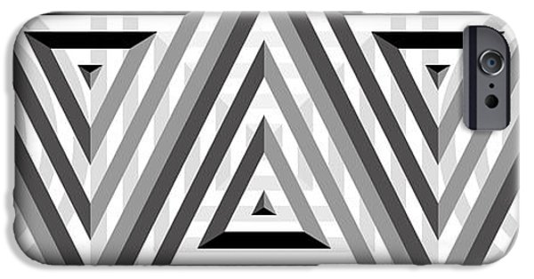 Modern Abstract iPhone Cases - GS Triangles Panoramic iPhone Case by Mike McGlothlen