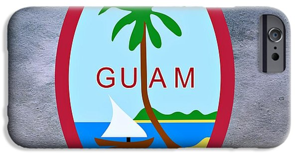 Famine iPhone Cases - Guam Territory Seal iPhone Case by Movie Poster Prints