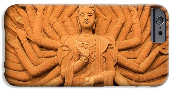 Tibetan Buddhism iPhone Cases - Guanyin Bodhisattva iPhone Case by Dean Harte