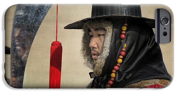 Weapon iPhone Cases - Guard at Gyeongbokgung iPhone Case by Joan Carroll