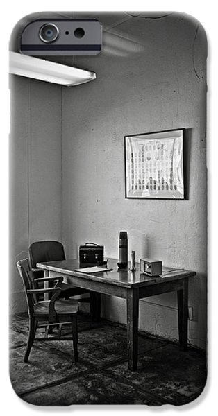 Guard dining area in Alcatraz prison iPhone Case by RicardMN Photography
