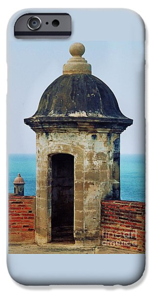 Historic Site iPhone Cases - Guard Tower El Morro iPhone Case by Marcus Dagan