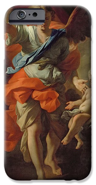 Guardian iPhone Cases - Guardian Angel iPhone Case by Andrea Pozzo