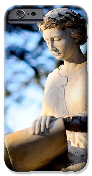 First Lady iPhone Cases - Guardian angel - Marble sculpture of a female figure iPhone Case by David Hill