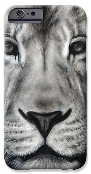 Animal Drawings iPhone Cases - Guardian iPhone Case by Courtney Kenny Porto