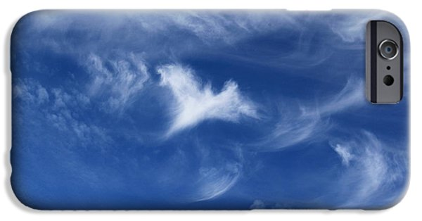 Miracle iPhone Cases - Guardian in the Sky iPhone Case by Krissy Katsimbras