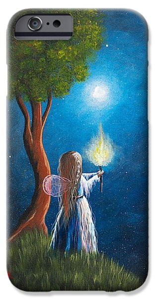 Guardian Of Light by Shawna Erback iPhone Case by Shawna Erback