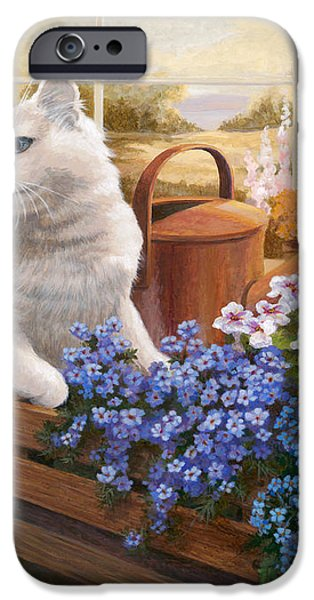 Guardian of the Greenhouse iPhone Case by Evie Cook