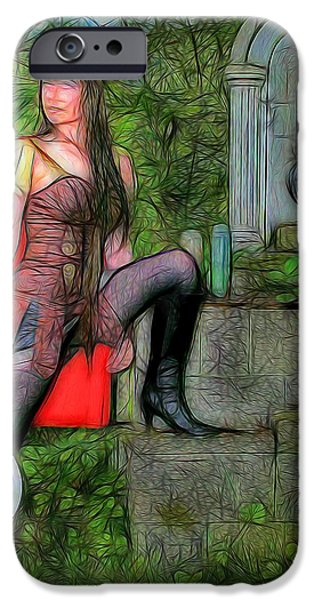 Warrior Goddess Photographs iPhone Cases - Guardian of the Shirne iPhone Case by Jon Volden