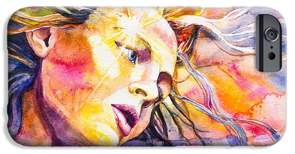 Angel Blues iPhone Cases - Guardian iPhone Case by Patricia Allingham Carlson