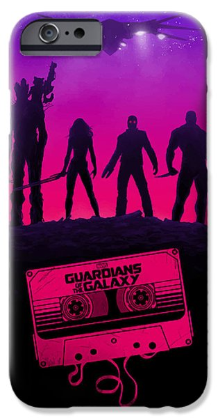 Raccoon Digital Art iPhone Cases - Guardians Of The Galaxy  iPhone Case by FHT Designs