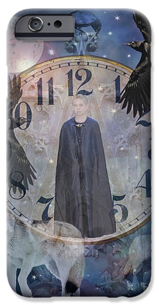 Judy Wood Digital Art iPhone Cases - Guardians of Time iPhone Case by Judy Wood