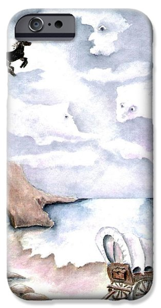 Night Angel iPhone Cases - Guardians iPhone Case by Pamela Allegretto